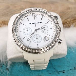 Michael Kors MK5079 Runway Watch White